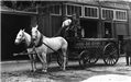 1890 Frankfort Fire Department horse wagon on Main Street