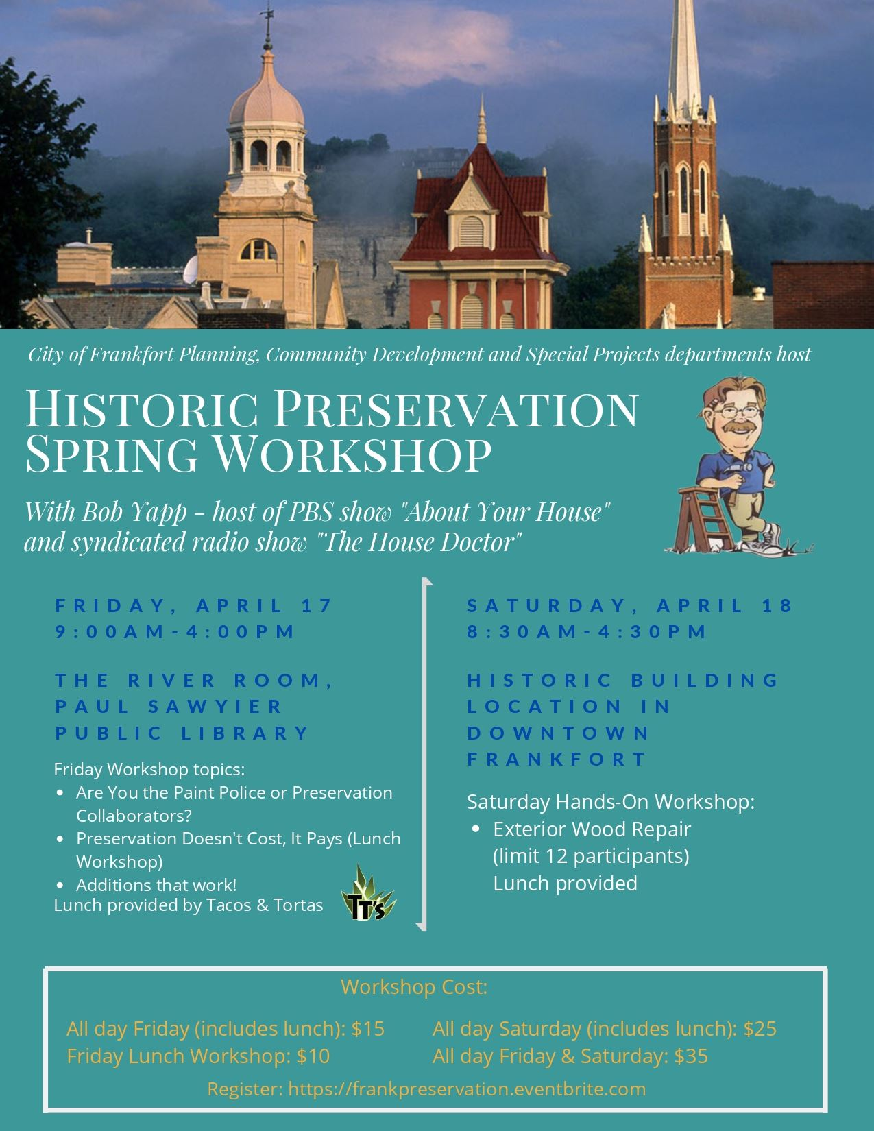 Frankfort Historic Preservation Spring 2020 Workshop Flier