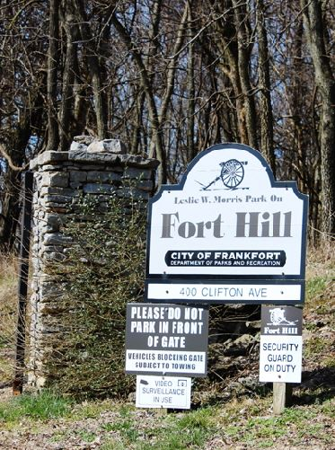 Signage for Leslie Morris Park on Fort Hill