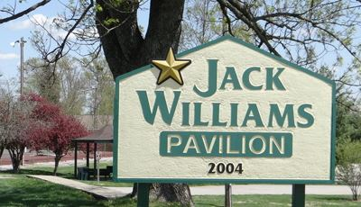 Signage for Jack Williams Pavilion