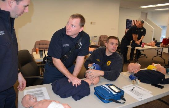 EMS students practice CPR